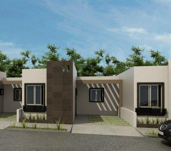Fachadas de casas de infonavit