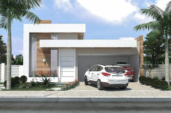 Fant sticas ideas para fachadas de casas de infonavit for Casa minimalista 300m2