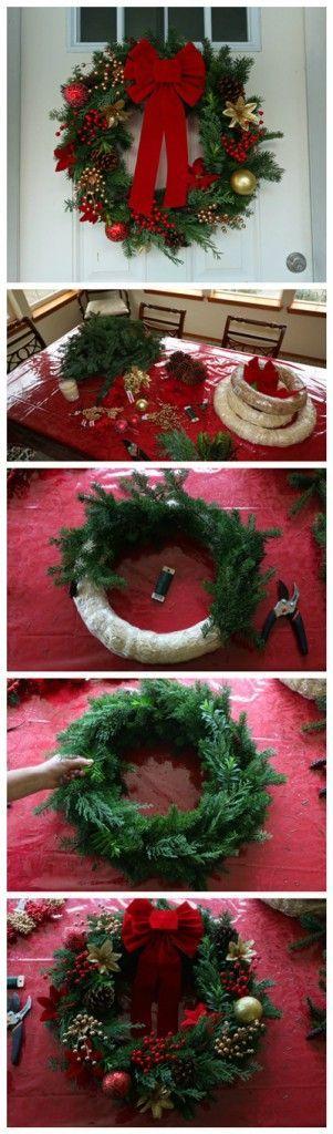 Ideas diy para decorar la puerta en navidad ideas paso a for Ideas para decorar puertas navidenas