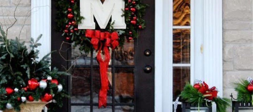 Ideas diy para decorar la puerta en navidad decoracion - Ideas para decorar la puerta en navidad ...