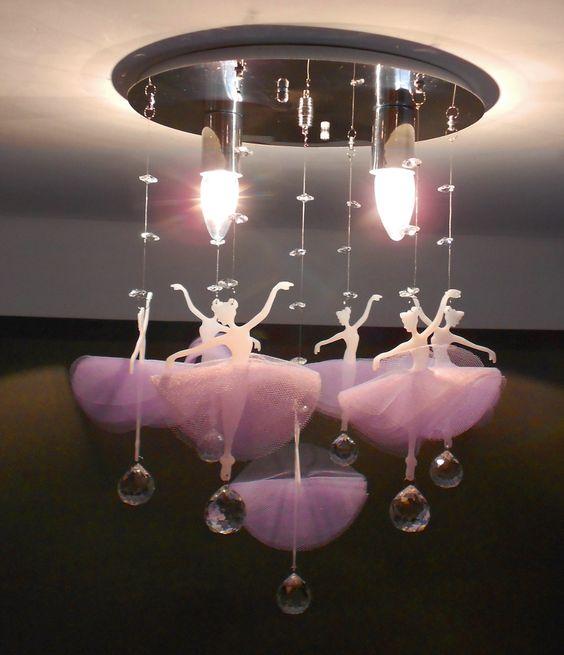 Lámparas para dormitorios para niñas de bailarinas de ballet