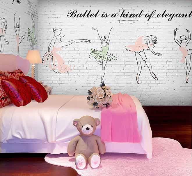 Ideas para decorar las paredes en un dormitorio de ballet