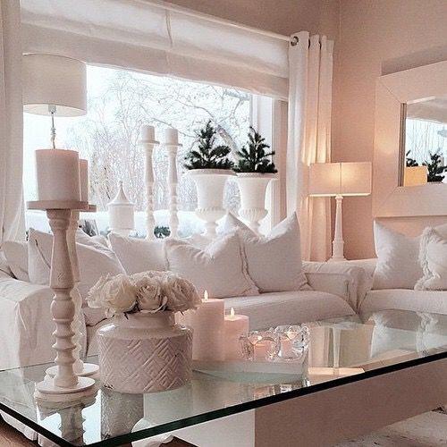 Ideas para decorar una casa en color blanco decoracion for Wohnzimmer altrosa