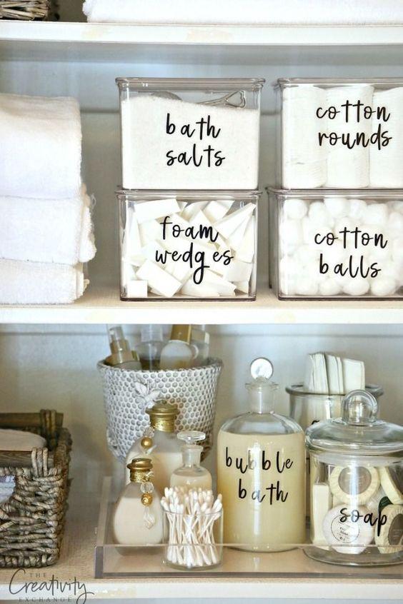 Ideas para organizar baños