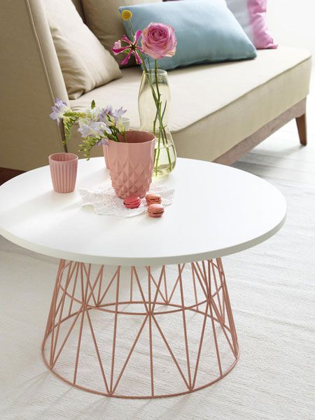 Accesorios para decoración con rosa gold
