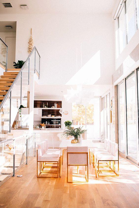 Decoración de interiores con rosa gold