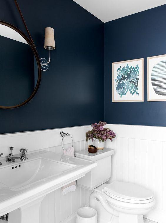 Baños color azul