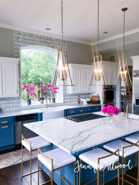 Cocinas decoradas con azul