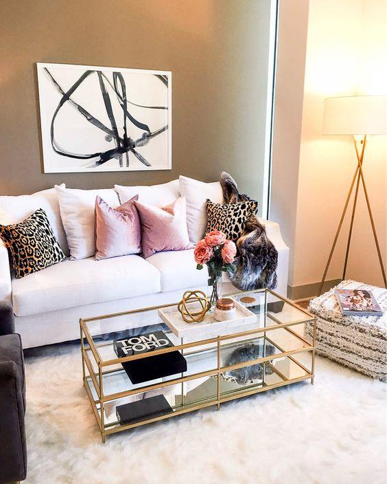Cojines decorativos para salas glamourosas