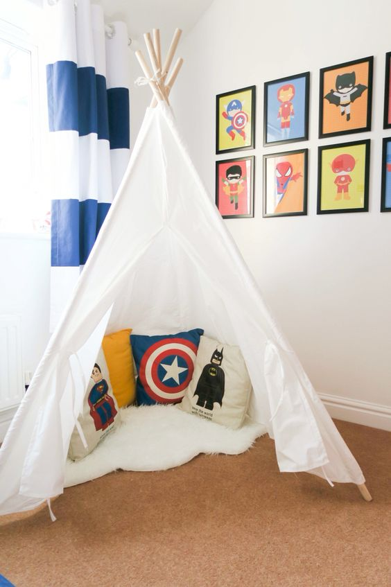 Colores para decorar habitaciones de superheroes