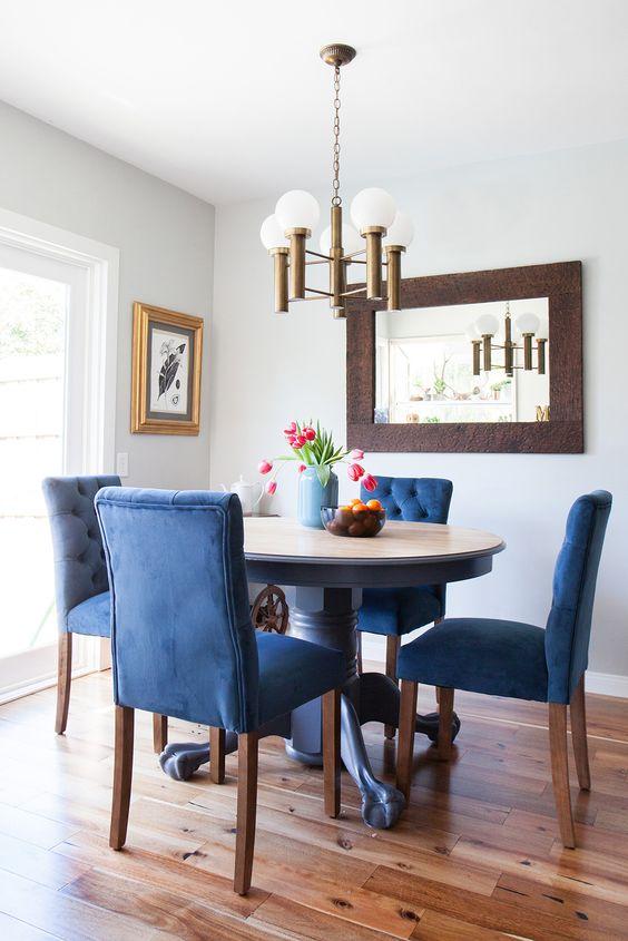 Comedores decorados con azul | Curso de Decoracion de interiores ...