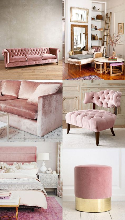 Decoración de salas con rosa gold