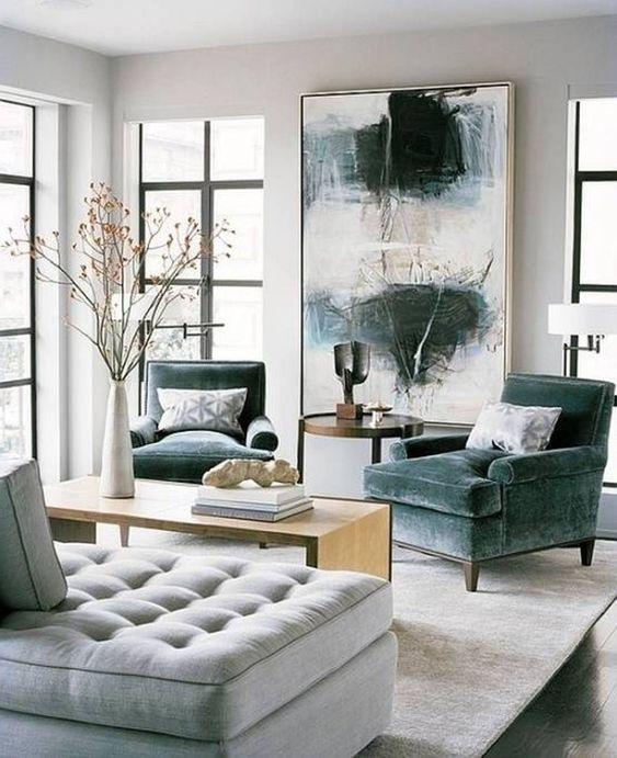 Decoración de salas con sillones individuales