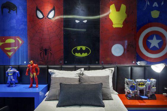 Decoracion de superheroes para habitaciones