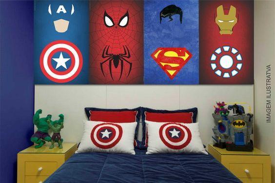 Decoracion de superheroes para habitaciones | Dormitorios infantiles ...