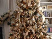 Tendencias en decoracion de navidad color dorado