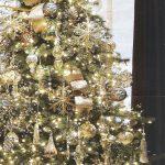 Decoración para navidad 2017 en color dorado