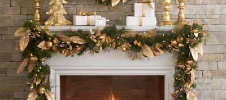 Decoraci n para navidad 2017 en color dorado decoracion for Decoraciones para navidad interiores