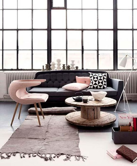 Decoración para tu Sala con Sofá en Color Rosa