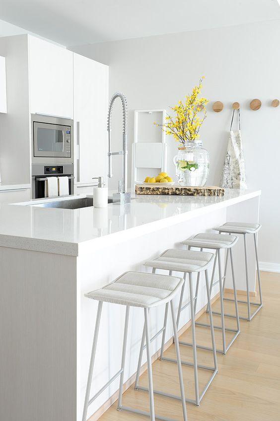 Diseños de cocinas modernas con desayunador