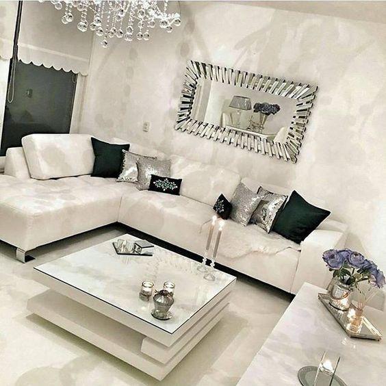 Espejos decorativos para salas glamourosas