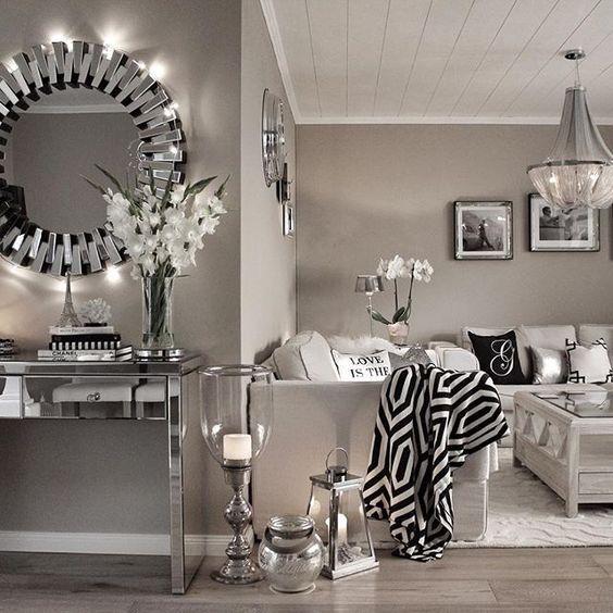 Salas glamurosas dise os de salas que toda chica querra for Espejos decorativos para habitaciones