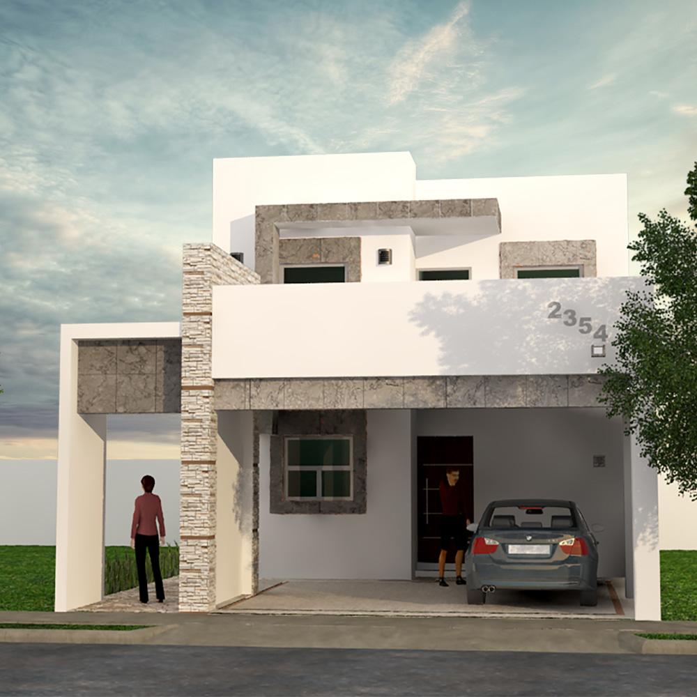Fachadas de casas de infonavit tendencias 2018 for Modelos de fachadas de casas de dos pisos