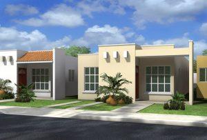 fachadas de casas de infonavit de un piso (2)