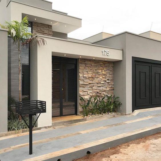fachadas de casas infonavit con cantera (2)