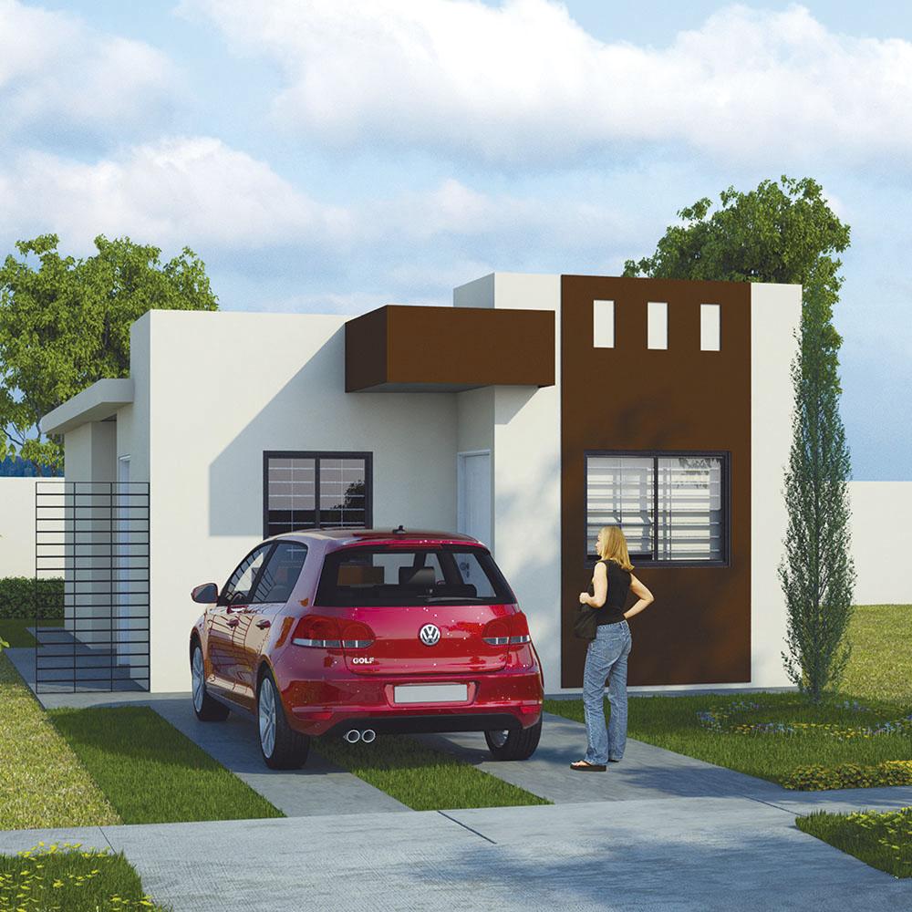 Fachadas de casas sencillas de infonavit