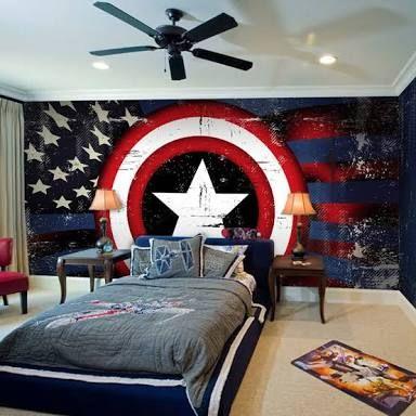 Habitaciones infantiles de capitan america