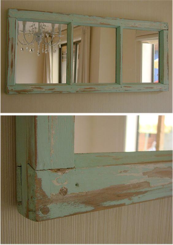 Ideas para decorar con espejos antiguos decoracion de for Ideas para enmarcar espejos