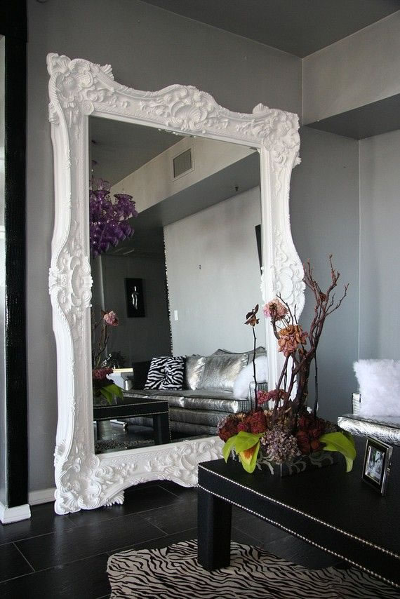 Espejos antiguos blancos