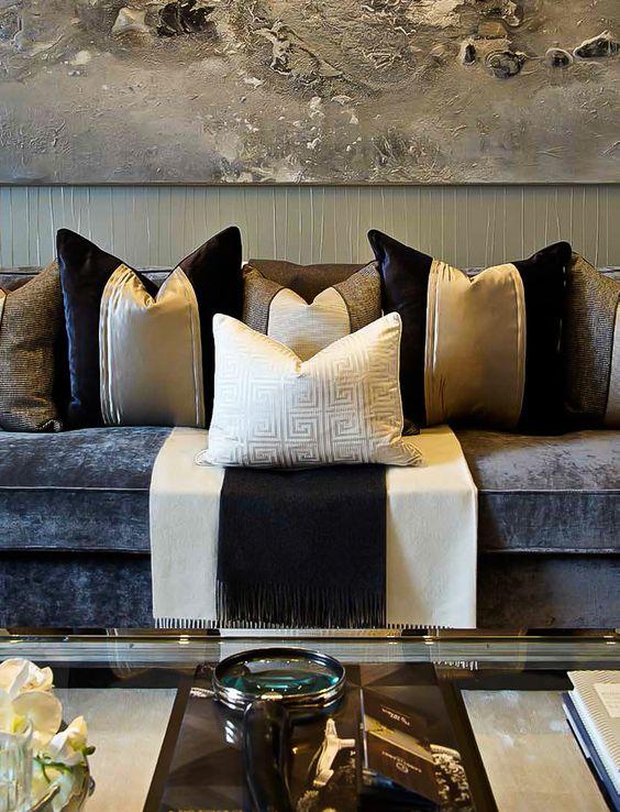 Ideas para decorar con mucho estilo tu hogar negro y for Home disena y decora tu hogar