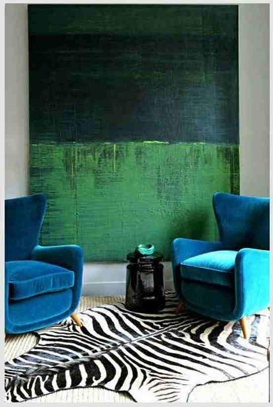 Colores que combinan con la decoración azul