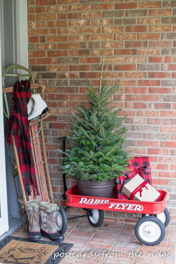 Ideas para decorar tu porche esta navidad 2017