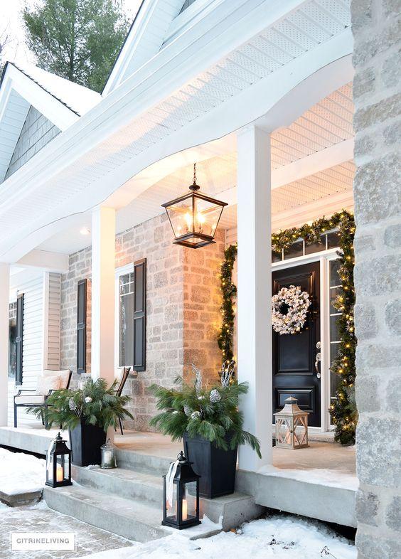 Ideas para decorar tu porche esta navidad 2017 - Decorar pared porche ...