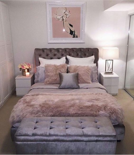 23 Best Copper And Blush Home Decor Ideas And Designs For 2019: Ideas Para Decorar Una Habitación En Rosa Y Gris