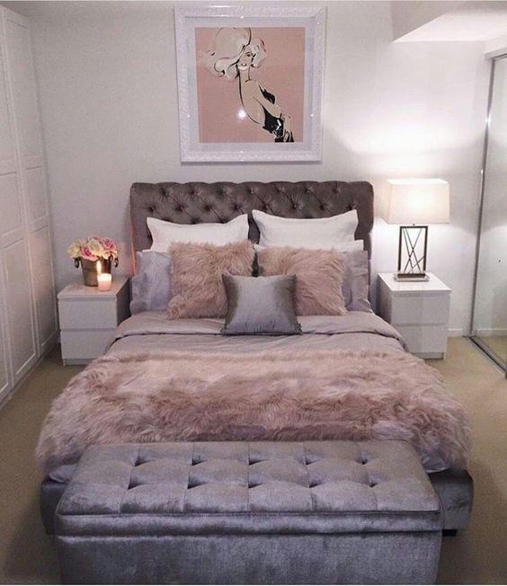23 Best Copper And Blush Home Decor Ideas And Designs For 2019: Ideas Para Decorar Una Habitación En Rosa Y Gris