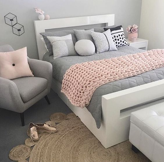 Matrimonio Bed Of Rose : Ideas para decorar una habitación en rosa y gris