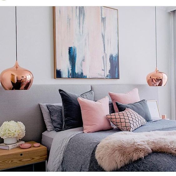 pink and grey bedroom decor ideas para decorar una habitaci 243 n en rosa y gris 19449
