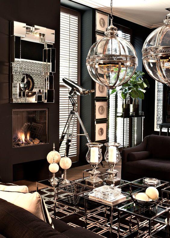 Iluminación de salas glamurosas