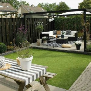 Jardines modernos de casas