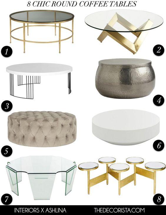 Mesas de para salas glamourosas