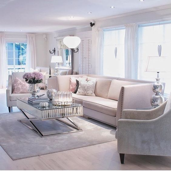 Muebles para salas glamurosas