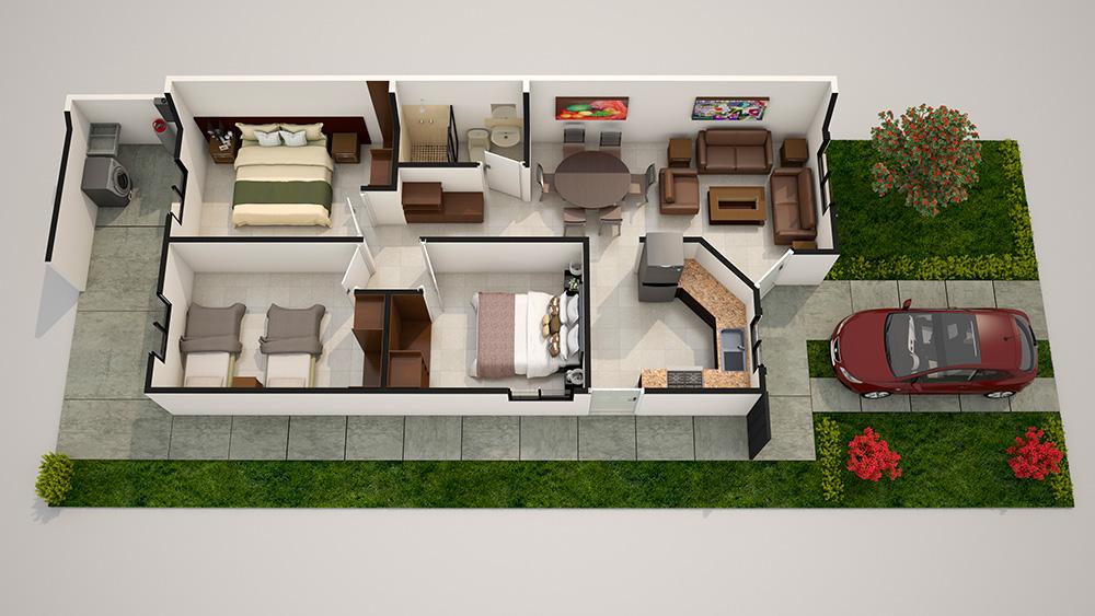 Modelos de casas de infonavit por dentro juegos de for Decoraciones de casas por dentro