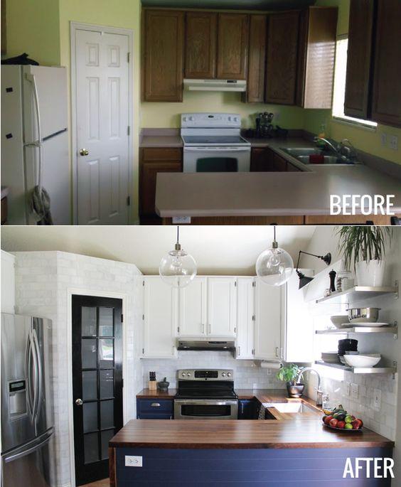 Antes y despu s de la remodelaci n de una casa peque a for Remodelacion de cocinas pequenas