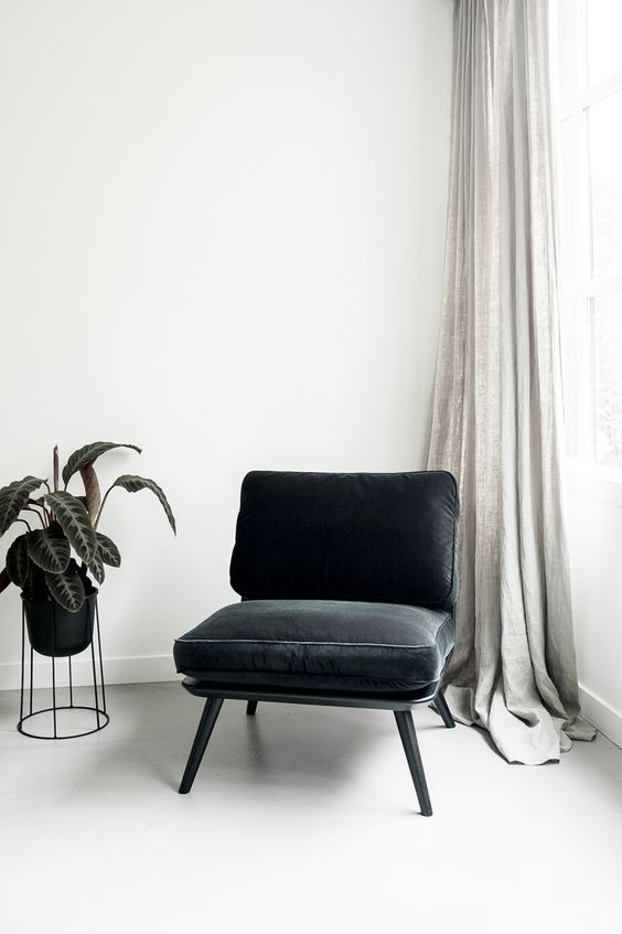 Sillones individuales color negro