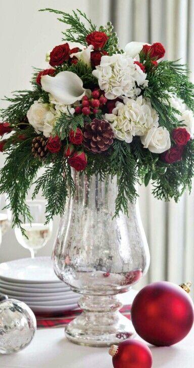 Centros de Mesa para Navidad con Flores Naturales