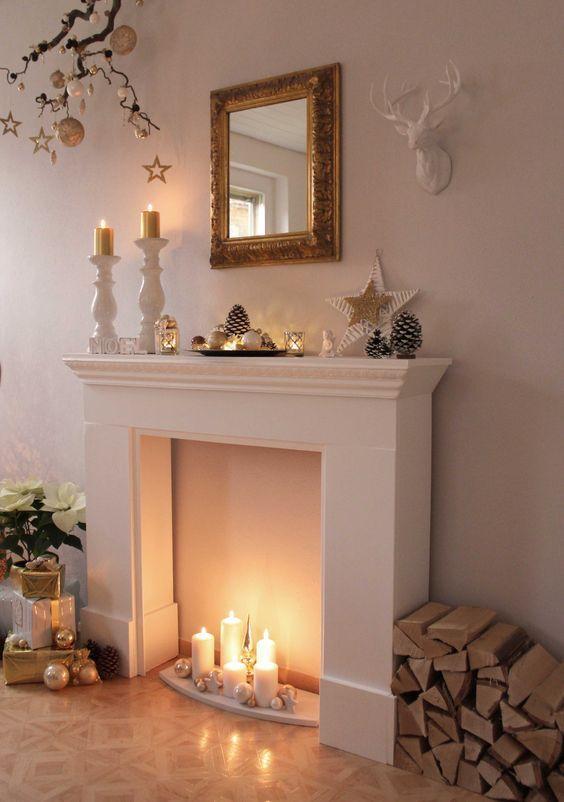 Decora la chimenea de tu hogar con toques navide os for Decora tu hogar